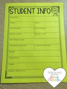 Student Info forms t