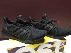NEW Adidas Ultra Boost 4.0 Triple Black sz 9.5 Nubuck Cage F36641 UB US  MENS 9.5 8a0d5e415