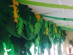 Tiki Island Jungle Decorating Classroom Theme Paper Leaves