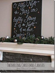 Placa de Tecido com mensagem de Natal