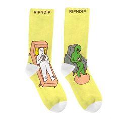 RIPnDIP Socks Therapy Pastel Yellow Rip N Dip Skateboard Sox   snapchat @ http://ift.tt/2izonFx