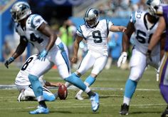 Carolina Panthers kicker Graham Gano (9) connects on a field goal in the first half against the Minnesota Vikings at Bank of America Stadium on Sunday, September 25, 2016. The Vikings won, 22-10.
