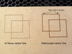 Picture of Tip #6: Defocus the laser for thicker vector lines.