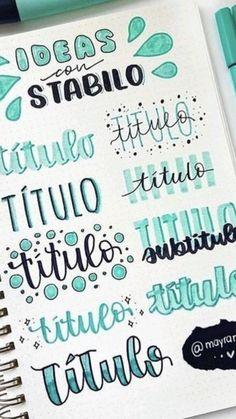 Bullet Journal School, Bullet Journal Paper, Bullet Journal Headers, Bullet Journal Lettering Ideas, Journal Fonts, Bullet Journal Notebook, Bullet Journal Ideas Pages, Hand Lettering Tutorial, Bullet Journal Aesthetic