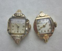 Two Vintage Bulova Watch Movements.  Ladies Watch Movements One Working   PatriciaInExcess S 446 by PatriciaInExcess on Etsy