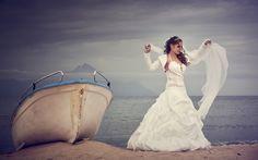 photo by George Tsamakdas Bride, Wedding Dresses, Happy, Fashion, Wedding Bride, Bride Dresses, Moda, Bridal Gowns, Bridal