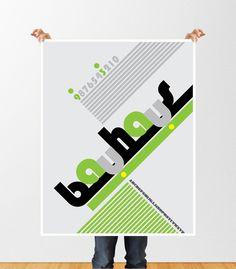 bauhaus font poster on Behance by Guzin Taskiran