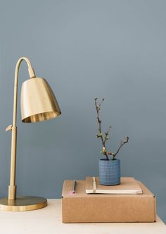 Denim drift,  colour of the year combined with brass gold for a luxurious feel