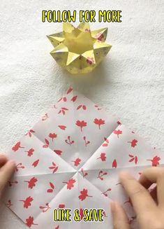 Paper Crafts Origami, Paper Crafts For Kids, Diy Paper, Instruções Origami, Origami And Kirigami, Diy Crafts Hacks, Diy Crafts For Gifts, Craft Projects, Craft Ideas