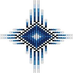 Native Style Blue Radiant Sun