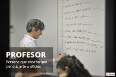 Spanish Word of the Day: PROFESOR #Spanish #LearnSpanish   http://www.donquijote.org/spanish-word-of-the-day/word/profesor