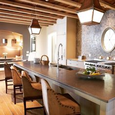 Beautiful kitchen design for a Mountain Brook client #instakitchen #instahomes #instadaily #architecture #cottage #instacottage #instaarchitecture #instadesign #kitchen #Mountainbrook #beams #customkitchen #limestonecountertop #lanterns #kitchenlighting #luxury #instagood #love #property #follow #followme #lifestyle #picoftheday #architect #anewhome
