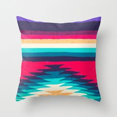 surf girl throw pillow // society6
