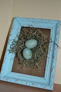 Cute little framed nest