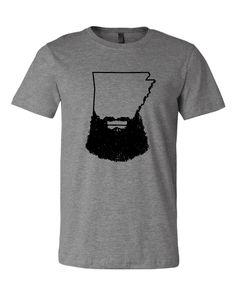 Arkansas Beard Tri Blend Crew T Shirt