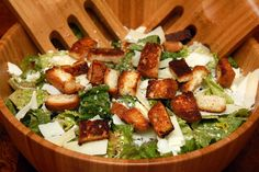 Gluten Free Croutons and Caesar Salad