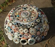 bowl from rolled paper by ReneBark