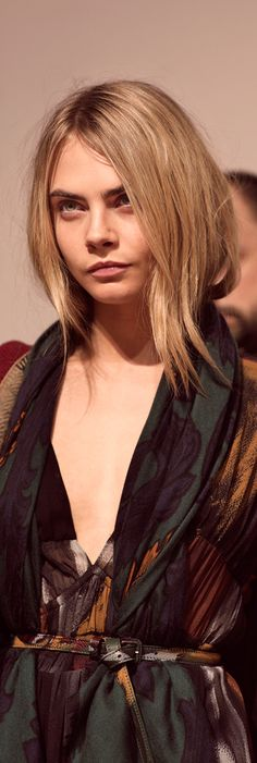 Naturally luminous - Cara Delevingne wearing the A/W14 runway make-up look behind the scenes of the Burberry show