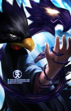 Fumikage Tokoyami by aerlixir - Sheila MacNeil My Hero Academia, My Little Witch Academia, Boku No Academia, Hero Academia Characters, Anime Characters, Tokoyami Boku No Hero, Hero 3, Fire Heart, Avatar The Last Airbender