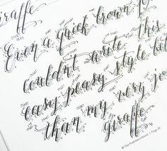 Calligraphy Worksheet Set