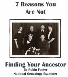 Seven Reasons You Are Not Finding Your Ancestor free genealogy records Family Roots, All Family, Family Trees, Genealogy Search, Family Genealogy, Genealogy Websites, Free Genealogy, Find Your Ancestors, Family Tree Research