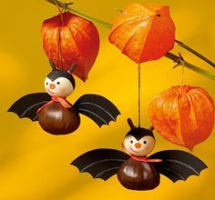 Herbstliche Natur Deko Best Picture For kids halloween games For Your Taste You are looking for some Diy Halloween, Happy Halloween, Halloween Decorations, Nature Decor, Nature Crafts, Creative Crafts, Diy Crafts For Kids, Manualidades Halloween, Christmas Diy