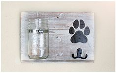 Dog Leash Holder & Treat Holder by BrandNewToMe on Etsy