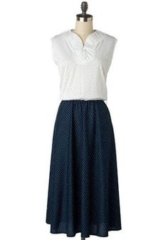Vintage Dainty Dots Dress, #ModCloth