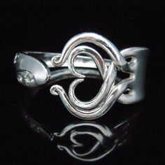Fork Bracelet Silverware Jewelry in Heart Design Number