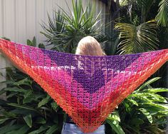 Ravelry: glasshouseleah's Staccato Shawl - pattern available from Inside Crochet and on Etsy