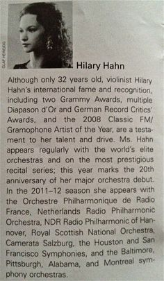 Hilary Hahn, Avery Fisher Hall. Feb 26th, 2012 Concerts, Fisher, Musicians, About Me Blog, Inspirational, Music Artists, Concert, Inspiration