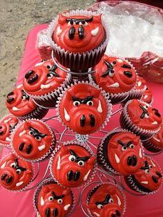 Razorback Cupcakes