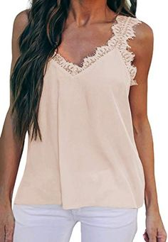 Shop a great selection of ROSKIKI Women's V Neck Lace Strappy Cami Tank Tops Casual Loose Sleeveless Blouse Shirts. Find new offer and Similar products for ROSKIKI Women's V Neck Lace Strappy Cami Tank Tops Casual Loose Sleeveless Blouse Shirts. Casual Tops For Women, Striped Linen, Lace Bodysuit, Ideias Fashion, Tank Tops, Clothes, Outfits, Style, Final Sale