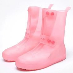 Couvre-Chaussures Imperméables – Maison Brico Get Up And Walk, Rubber Rain Boots, Wedges, Walking, Slip On, Footwear, Booty, Stuff To Buy, Shoes