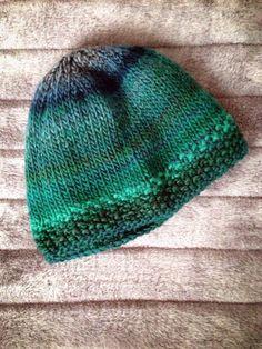 Gorro de lana verde por AllMyKnits en Etsy Gorros De Lana e9547e2a64be