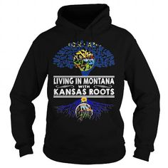 I Love Living in Montana With Kansas Roots T-Shirts
