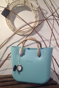 O bag mini - Turquoise + Mini Rope Handles