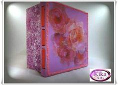 Caixa de rosas pink em mdf