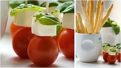 Perfect caprese party food.