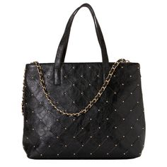 ADELAIDE LINE   Shopping bag embellished with studs.