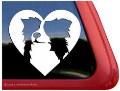 Border Collie Love  DC857HRT  High Quality by NickerStickers