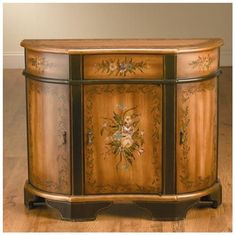 French Country Painted Furniture Console Cabinet