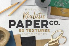 50 Paper Textures Set by Zeppelin Graphics on @creativemarket