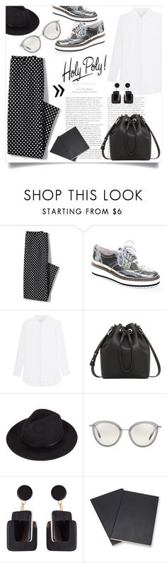 """HOLY POLY!"" by lklmntna ❤ liked on Polyvore featuring Lands' End, Shellys, Jadicted, MANGO, Oliver Peoples, Marni, Volant, monochrome and fashionset"