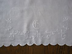 Check out this item in my Etsy shop https://www.etsy.com/listing/469247665/c-monogram-linen-towel-antique-damask