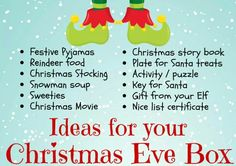 This item is unavailable Ideas for you to add to a personalised Christmas eve box Night Before Christmas Box, Its Christmas Eve, Winter Christmas, Christmas Eve Box Ideas Kids, Xmas Ideas, Christmas Presents For Children, Christmas Activities, Christmas Stuff, Traditional Christmas Presents