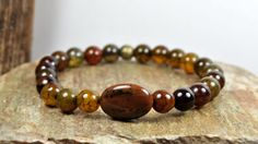 •ITEM DETAILS:  Bracelet Type: Stretchy  Beads: Agate Stone    •Bead Size:  • Size of Agate stones - 8 mm  • Size of Jasper stones - 12 mm    •