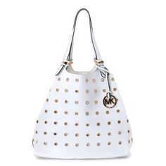 762ccaf99b1a ... order michael michael kors large colgate grommet pebbled leather tote  white 71253 7570c