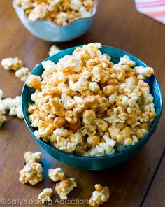 Easy, addicting, 10-minute Peanut Butter Caramel Corn