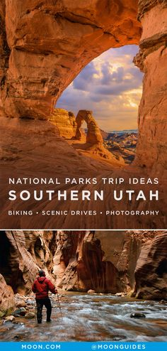 Avid outdoor enthusiasts will find plenty of activities to keep them occupied in Southern Utah's National Parks from backpacking to rafting and everything in between, but so too will nature lovers, road trippers, and those simply looking for a reason to be outdoors. Consider these great trip ideas when visiting Arches, Zion, Bryce, and Grand Staircase-Escalante. #utah #nationalparks